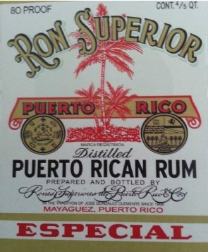 Old Label of Ron Superior