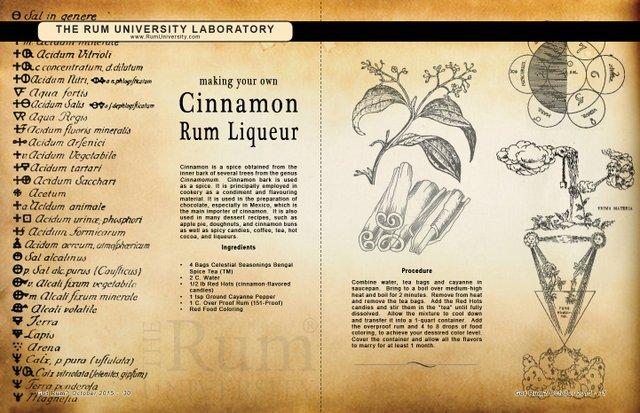 Making Your Own Cinnamon Rum Liqueur