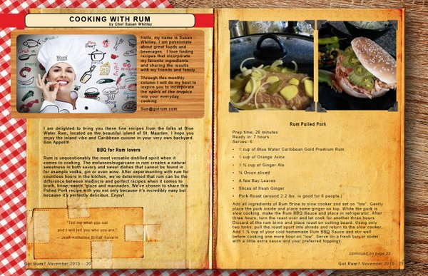 November 2015- Cooking with Rum
