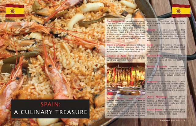 SPAIN: A CULINARY TREASURE
