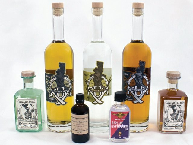 Line up of Maggies Farm Rums