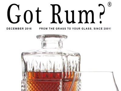 """""""Got Rum?"""" December 2016 Featured Story"""