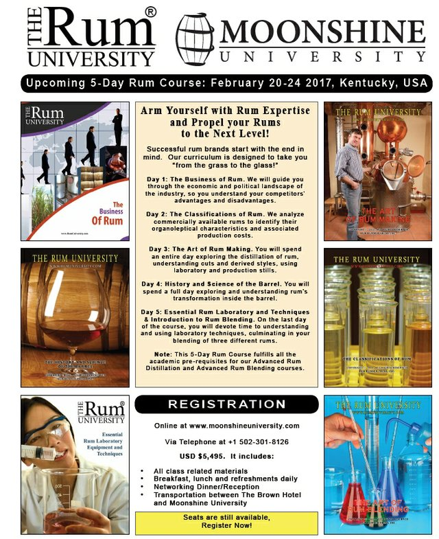 5-Day Rum Course Feb 20 to 24 of 2017