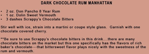 Dark Chocolate Rum Manhattan