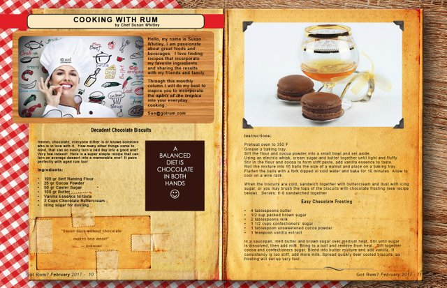 February 2017- Cooking with Rum