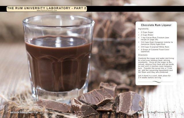 Chocolate Rum Liqueur