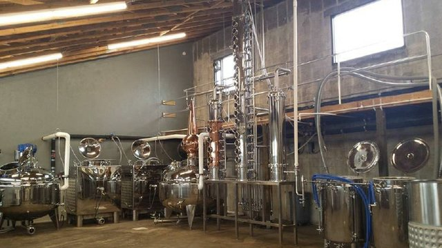 Copper Bottom Craft Distillery Inside