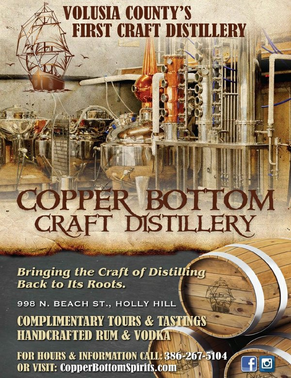 Copper Bottom Craft Distillery Ad