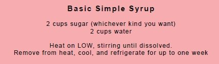 Basic Simple Syrup