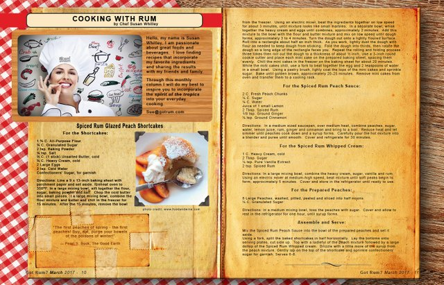 March 2017- Cooking with Rum