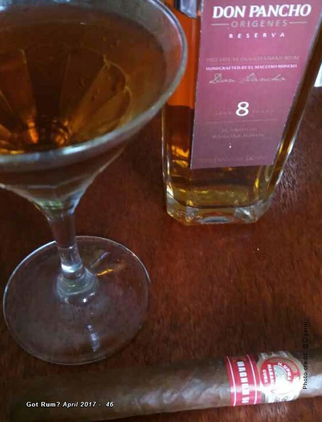 April 2017 Cigar and Rum Pairing