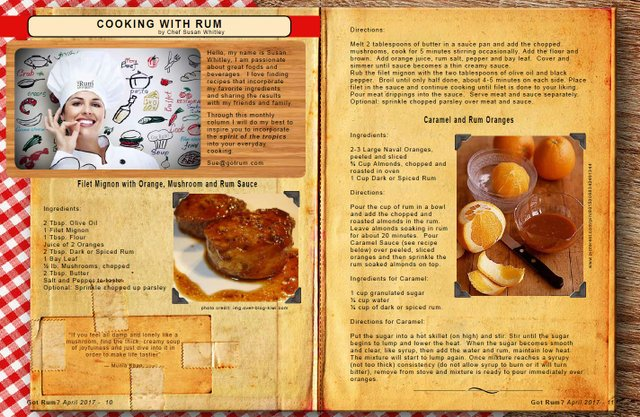 April 2017 Cooking with Rum