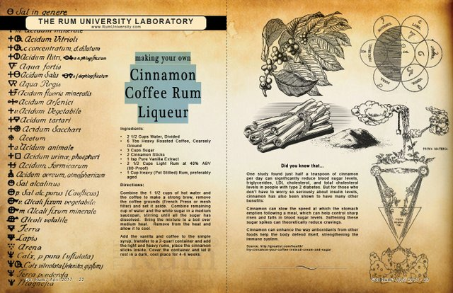 Making Your Own Cinnamon Coffee Rum Liqueur