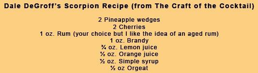 Dale DeGroff Scorpion Cocktail Recipe