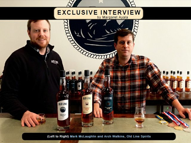 Mark McLaughlin and Arch Watkins owners of Old Line Spirits