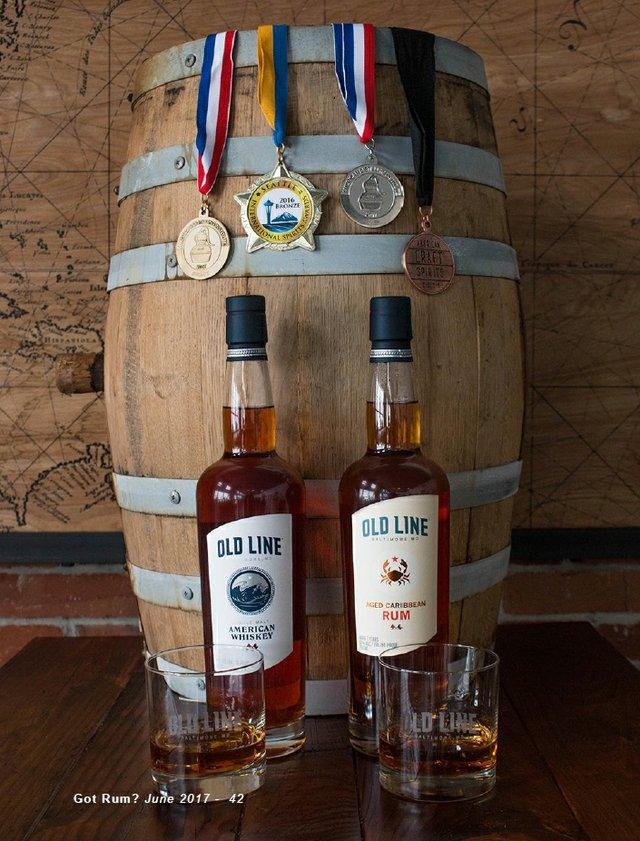 Old Line Spirits Products and Medals
