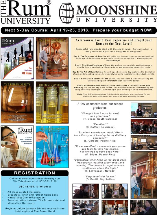 5-Day Rum Course February 2018