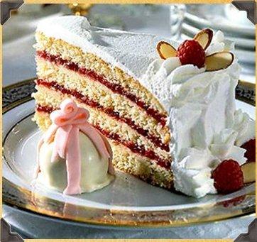 Rum Layered Torte Cake with Raspberry Jam