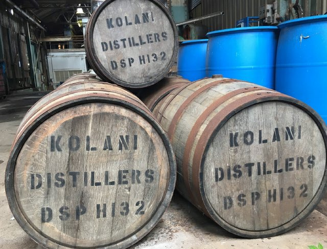Kolani Distillers Barrels