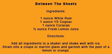Between the Sheets Cocktail Recipe