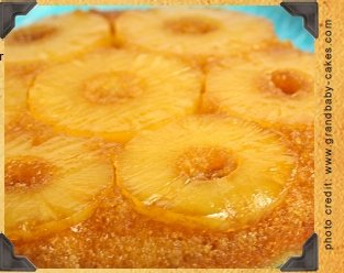 Pineapple Upside Down Carmel Rum Cake