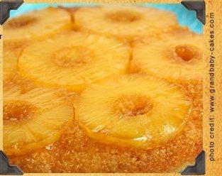 Pineapple Upside Down Carmel Rum Cake