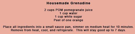Housemade Grenadine