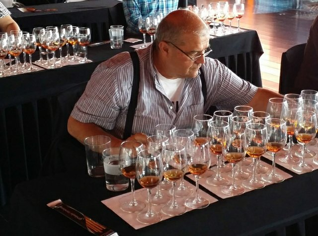 Marco Pierini doing a rum tasting in Madrid Spain