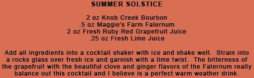 Summer Solstice Cocktail Recipe