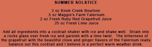Summer Solstice Cocktail Recipe