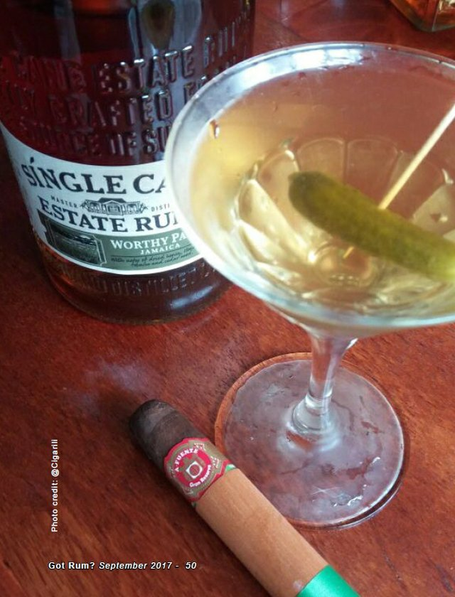 September 2017 Cigar and Rum Pairing