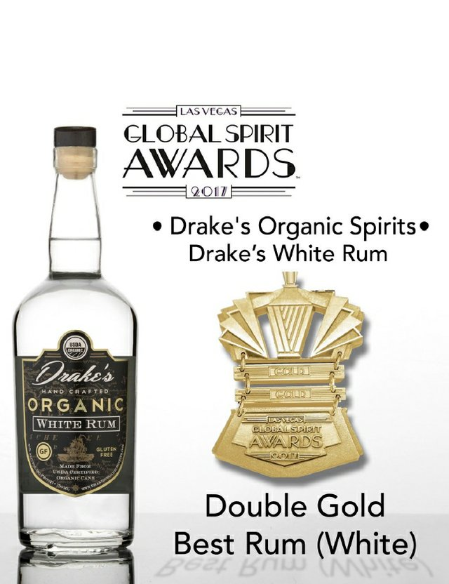 Drake's Organic White Rum Award
