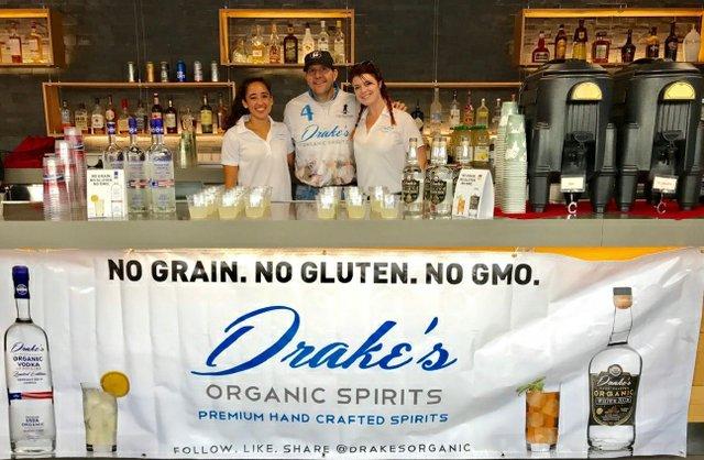 Drake's Organic Spirits Booth
