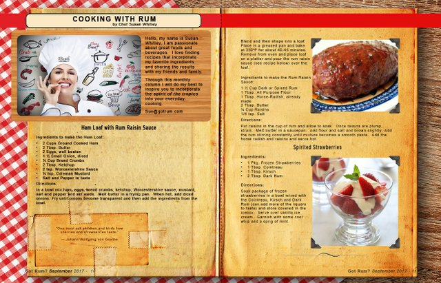 September 2017- Cooking with Rum