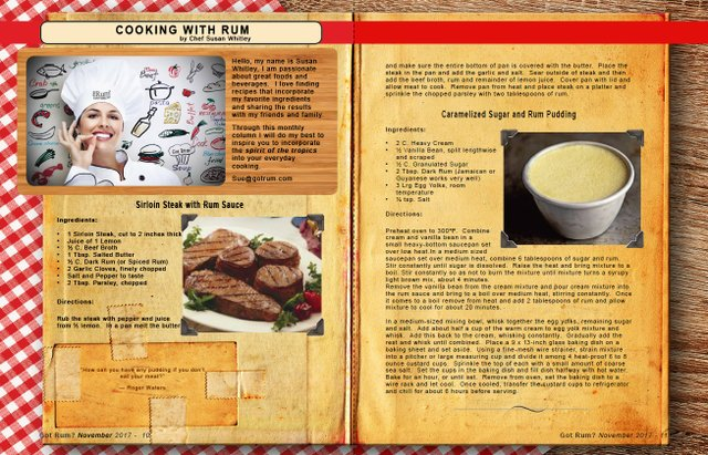 November 2017- Cooking with Rum