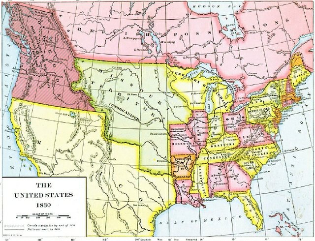 The United States of America in 1830