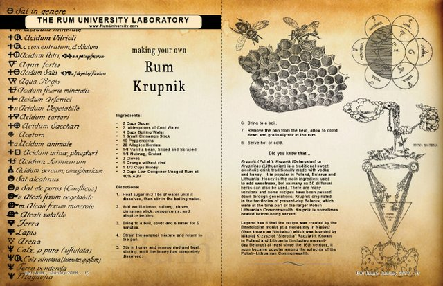 Making Your Own Rum Krupnik