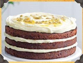 Chocolate Layered Rum Cake