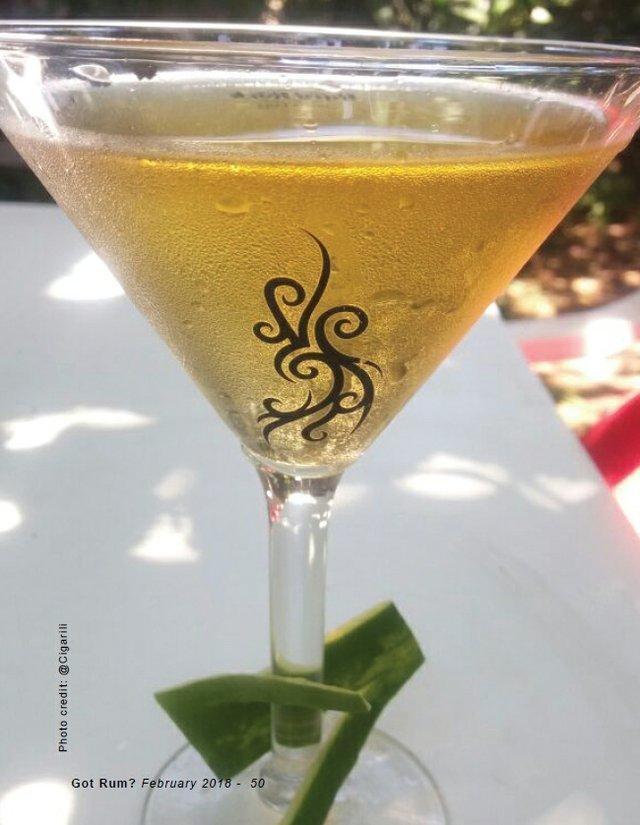 Apple Rumtini Cocktail