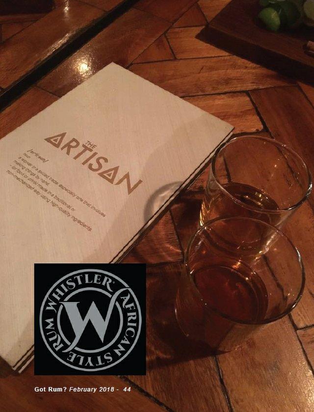 Whistler Artisan Rum in snifters