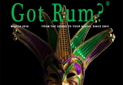 """""""Got Rum?"""" March 2018 Featured Story"""