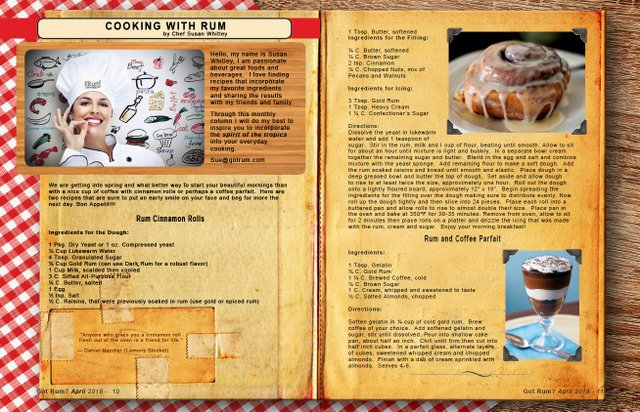 April 2018- Cooking with Rum