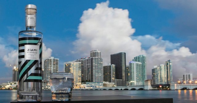 Ziami rum with Miami Florida background