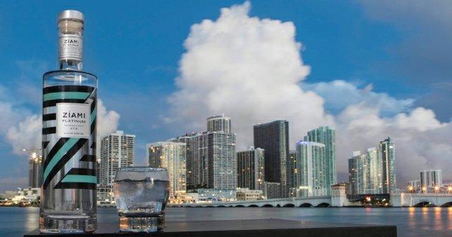 Ziami rum with Miami Florida background