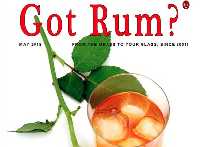"""""""Got Rum?"""" May 2018 Featured Story"""