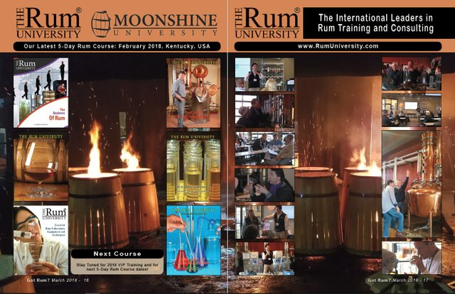 February 2018 5-Day Rum Course Coverage 2