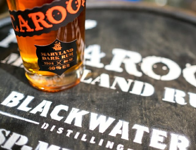 Blackwater Distilling on barrel head