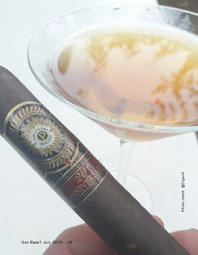 July 2018 Cigar and Rum Pairing Apple Darktini