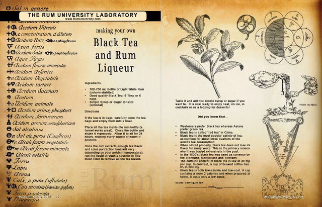 Making Your Own Black Tea and Rum Liqueur
