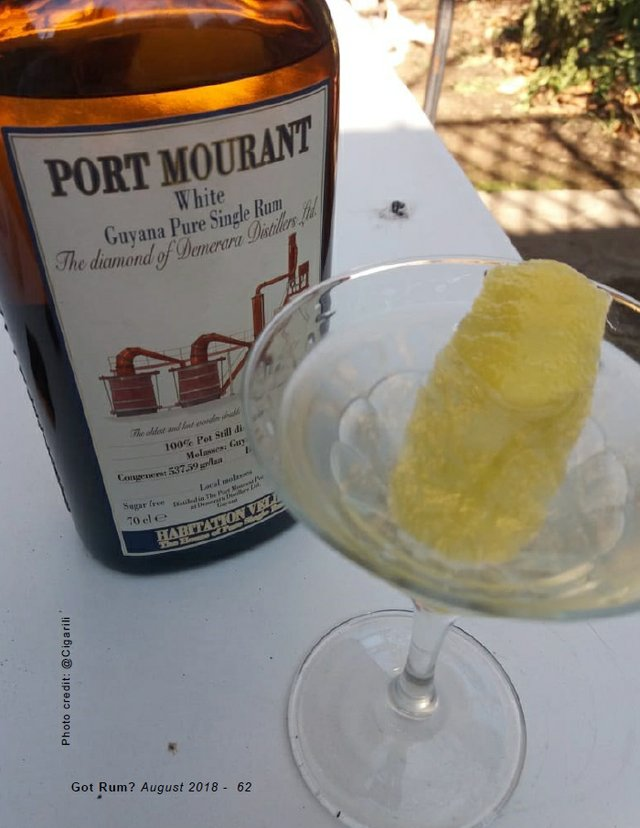 Port Mourant White Guyana Pure Single Rum with Cocktail